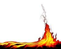 пожар одичалый иллюстрация вектора
