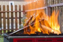 пожар открытый Стоковое Фото