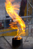 пожар олимпийский Стоковая Фотография