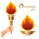 пожар олимпийский иллюстрация штока