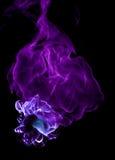 пожар покрашенный чернотой Стоковое Изображение