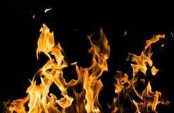 пожар предпосылки черный Стоковая Фотография