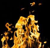 пожар предпосылки черный Стоковое Изображение