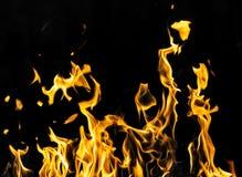 пожар предпосылки черный Стоковая Фотография RF