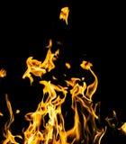 пожар предпосылки черный Стоковые Фотографии RF