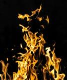 пожар предпосылки черный Стоковое Фото