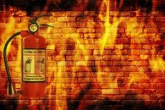 Пожар принципиальной схемы Стоковая Фотография