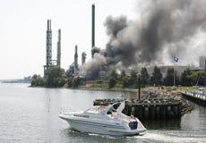 пожар промышленный Стоковое Изображение