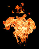 пожар пылает высоко поднимать стоковое фото rf