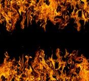 пожар пылает рамка стоковые изображения rf