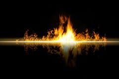 Пожар пламени Стоковое Изображение RF