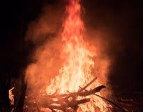 пожар реальный Стоковые Изображения RF
