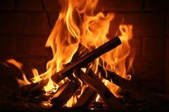пожар романтичный Стоковое Изображение