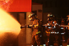 пожар самолет-истребителей Стоковые Фото