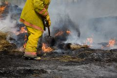 пожар самолет-истребителя сельский Стоковое Изображение RF
