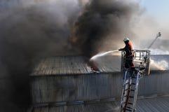 пожар самолет-истребителя Стоковые Изображения RF