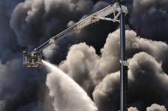 Пожар склада стоковое изображение rf