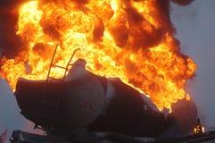 Пожар топливозаправщика Стоковые Фотографии RF