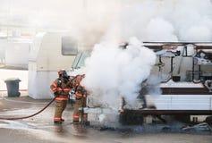 Пожар трейлера Стоковое фото RF