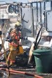 Пожар трейлера Стоковое Фото