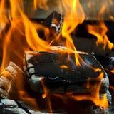 пожар углей Стоковое Изображение