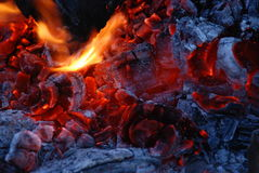 пожар углей стоковые фотографии rf