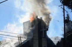 Пожар церков стоковое фото rf