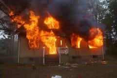 Пожар дома Стоковое фото RF