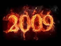 пожар 2009 иллюстрация вектора