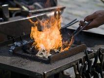 пожар blacksmiths Стоковые Фотографии RF