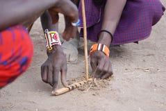 Пожар Masai Стоковое Изображение