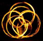 Пожар poi в действии стоковые изображения