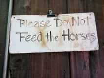 Пожалуйста не подайте лошади Стоковые Изображения