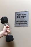 Пожалуйста не упадите весы Стоковое фото RF
