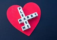 Пожалуйста поженитесь я Стоковая Фотография RF