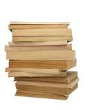 пожелтетый стог 2 книг стоковые фотографии rf