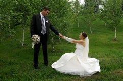 Романтичные пары венчания Стоковая Фотография RF
