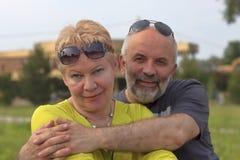 пожененное счастливое пар Стоковые Фотографии RF
