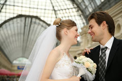 пожененное счастливое пар Стоковые Фото