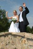 пожененное счастливое Стоковое Фото