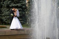 пожененное счастливое Стоковые Фото