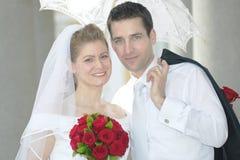 пожененное счастливое пар Стоковое Фото