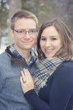 пожененное счастливое пар Стоковая Фотография