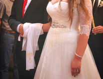 Пожененные пары в православной церков церков Стоковые Фото