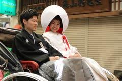 Пожененные пары в Miyajima - Японии Стоковое Изображение RF
