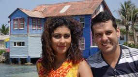 Пожененные пары на каникулах Стоковое фото RF