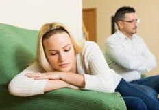 Пожененные пары после ссоры Стоковое Изображение RF