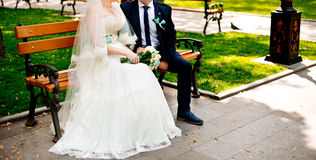 пожененные пары Стоковое Фото