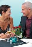 Пожененные пар пары в ресторане Стоковая Фотография RF