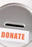пожертвование коробки стоковое изображение